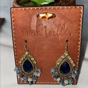 Simply Noelle Teardrop Dangle Earrings Blue